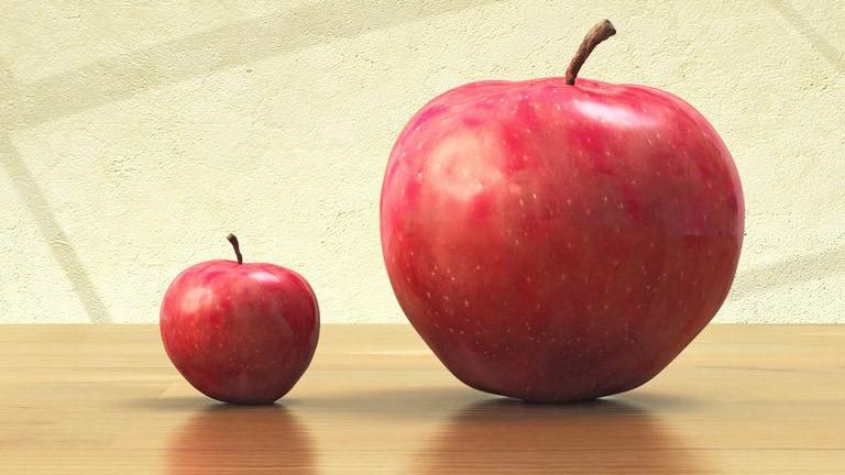 pomme petite grande 750