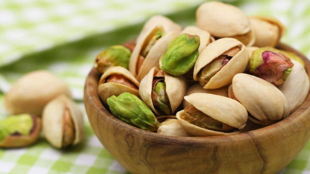 La pistache, un fruit oléagineux bon pour la santé.