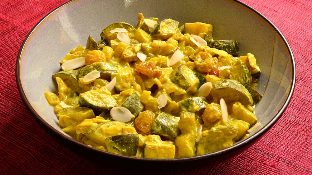 poelee courgettes curry