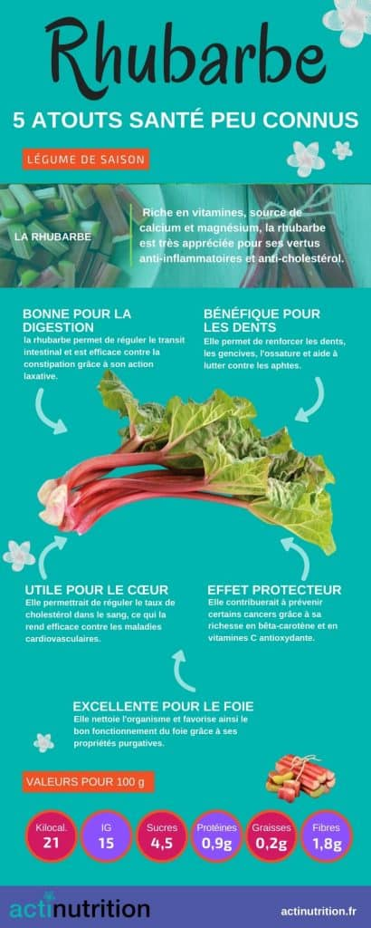 bienfaits de la rhubarbe