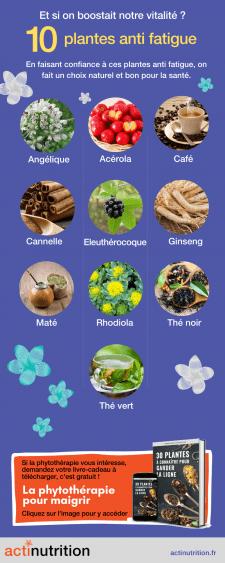 L'infographie sur les meilleurs remèdes contre la fatigue