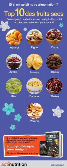 Top 10 fruits deshydrates